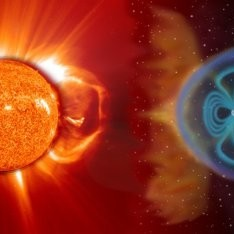 Picture of solar space weather